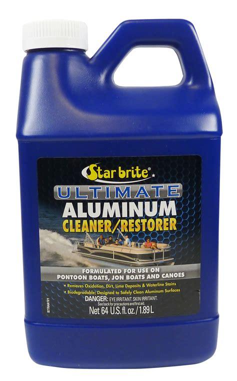 aluminium cleanrestore fra starbrite cleaner