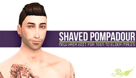 shaved hair sims 4 simsational designs shaved pompadour male hair edit for ts4