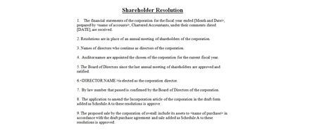 letter of resolution template shareholder resolution business letter exles