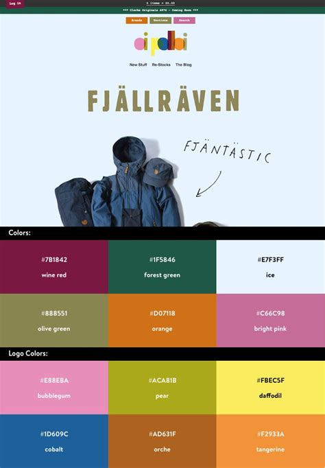 website colour combinations 10 beautiful ecommerce website color schemes