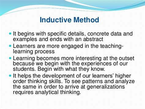 define specific induction different approaches and methods
