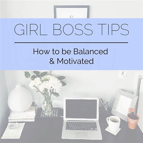 tips how to be balanced and motivated the