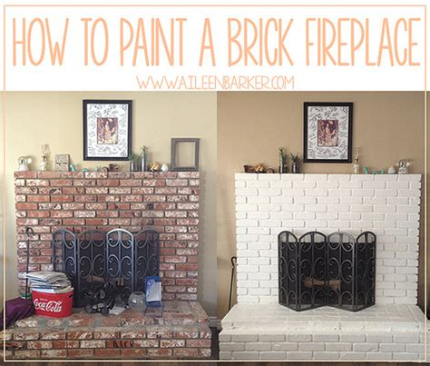 how to paint a brick fireplace flickr photo