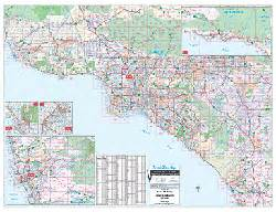 Southern California Zip Code Map by Southern California Wall Map By Thomas Brothers Maps