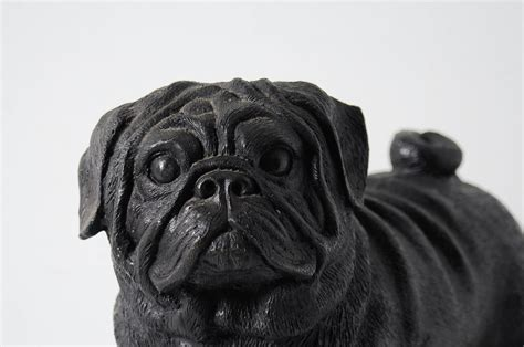 pug door stop heavy cast iron pug door stop garden figurine statue ebay