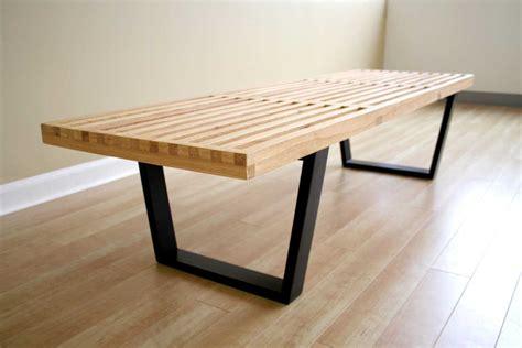 george nelson bench natural wood shop nelson platform
