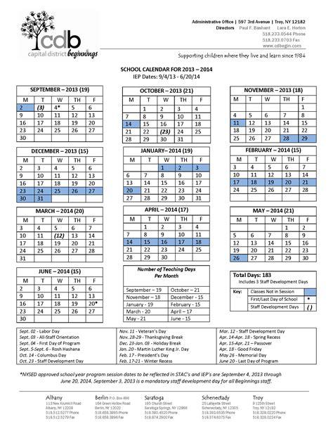 calendar programs capital district beginnings program calendar
