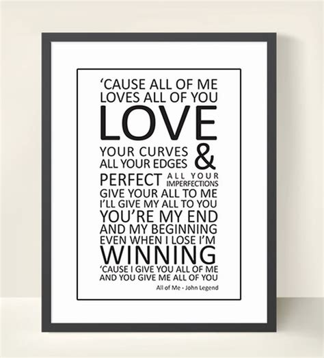 printable lyrics all of me john legend lyrics print wall art all of me 8 x