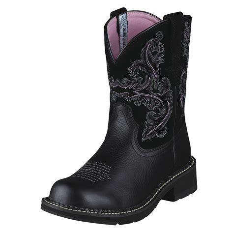 black ariat boots for pungo ridge ariat fatbaby ii boots black deertan