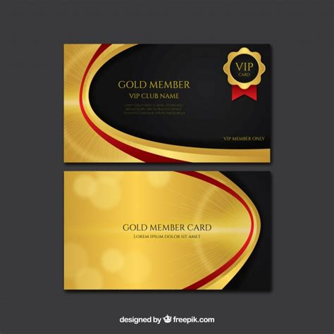 imagenes tarjetas vip tarjetas vip doradas con estilo descargar vectores gratis