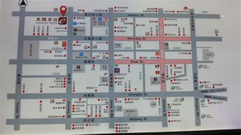 handy map at the hotel lobby Picture of E House Hotel Ximending, Taipei TripAdvisor