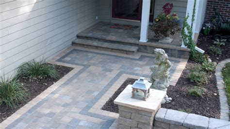 Small Paver Patio Small Paver Patio Small Paver Patio Herringbone In My Garden Zone 5b 6a Patio Design Ideas