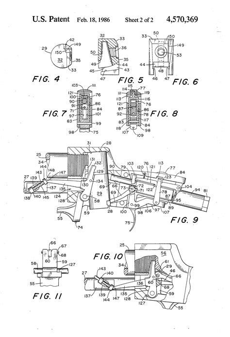 Patent US4570369 - Cylindrical, falling breech block