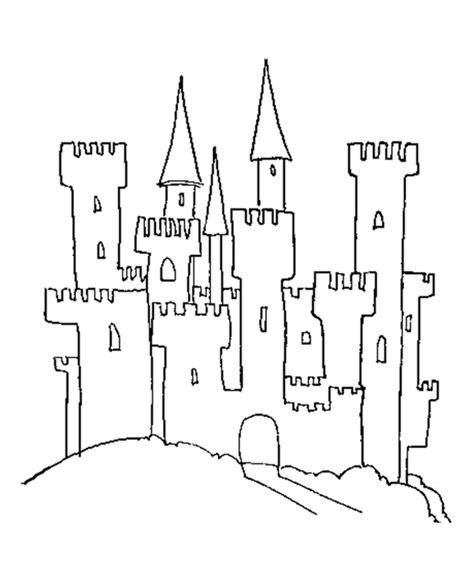 simple castle coloring page easy castle 3d coloring pages