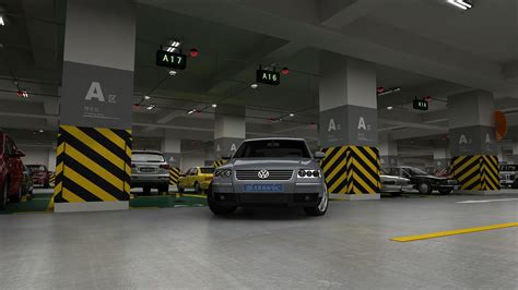 Auto Parking 3d by Underground Parking 3d Model Animated Max Cgtrader