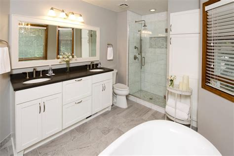 done in a weekend bathroom refreshes vanities cabinets and striped walls project feature relaxing bathroom refresh the cabinet store
