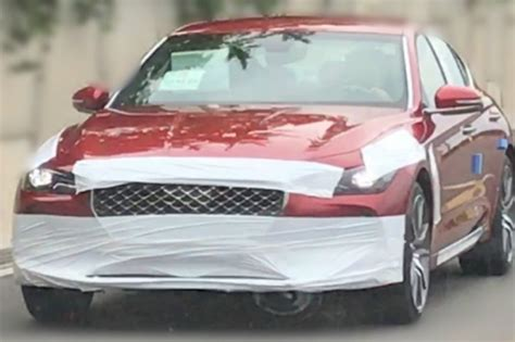 genesis inside and out genesis g70 shown inside and out in leaked photos