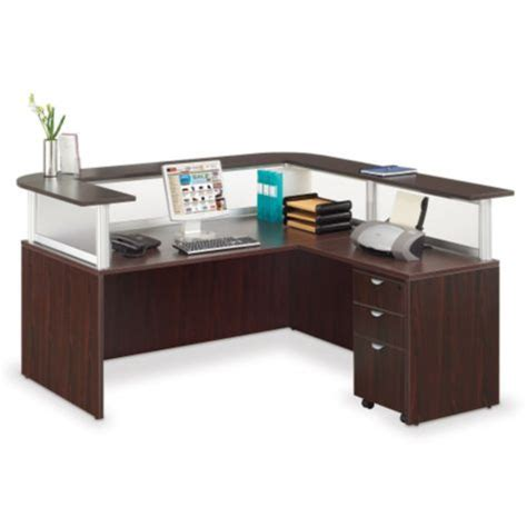 Neoterik L Shaped Reception Desk 79 Quot W Officefurniture Com Reception Office Desk