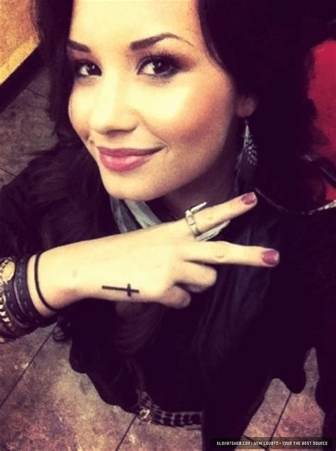 demi lovato tattoo wrist small cross tattoos for on wrist