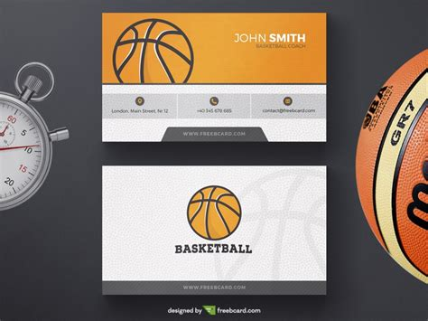 basketball card template photoshop basketball business card template freebcard