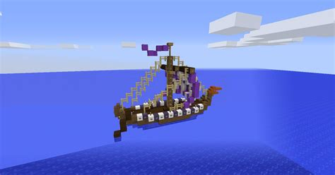boat with oars minecraft viking longboat screenshots show your creation