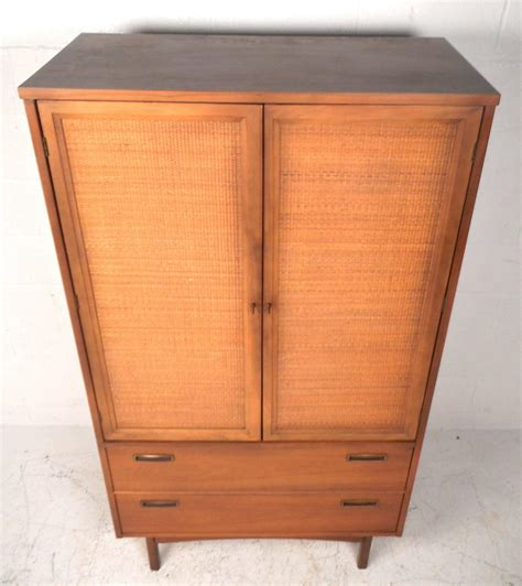 mid century modern armoire mid century modern cane front armoire dresser for sale at