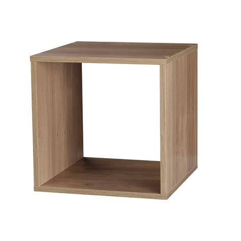 oak wooden bookcase shelving display storage cube shelf