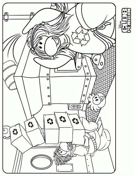 club penguin color pages az coloring pages