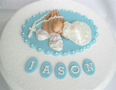 edible personalised baby boy christening cake topper edible personalised christening baptism cake topper