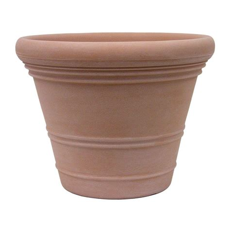 Planters On Line by Planters 24 In Dia Italian Terracotta Resin Ancona