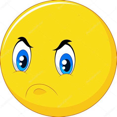 Emoticonos De Dibujos Animados Con Cara Enfadada Sobre   emoticonos de dibujos animados con cara enfadada sobre