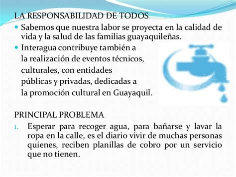 consulta de planillas empresa de agua potable y principales retos de las ciudades del ecuador