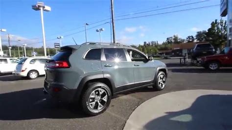 jeep cherokee grey 2015 jeep cherokee trailhawk anvil gray fw511834 mt