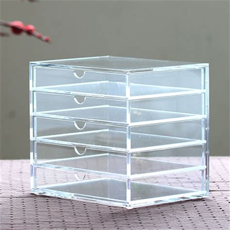 Acrylic Make Up 2 Drawer Akrilik muji office organizer transparent acrylic drawer storage