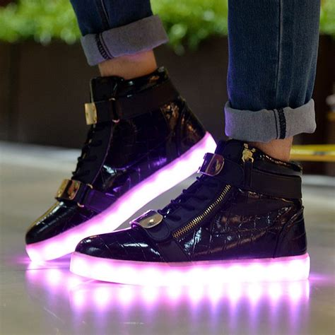 reebok light up shoes topteck led luz luminosos light up sneakers