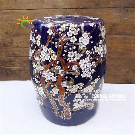 mix color glazed garden ceramic drum stool for
