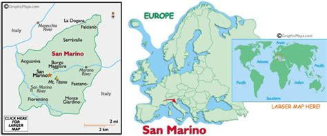 map of san marino san marino map and san marino satellite images