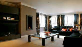 black livingroom furniture how to select wall paint colors for living room