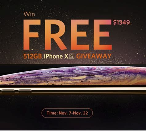 apple iphone xs giveaway