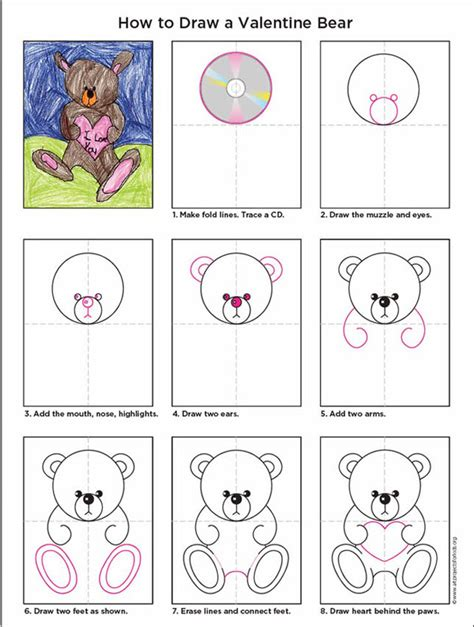 valentines teddy drawing teddy projects for