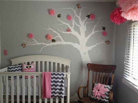 Gray And Pink Nursery Decor Pink Grey Chevron Nursery Project Nursery