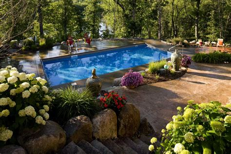 shaded backyard swimming pool landscape southview design