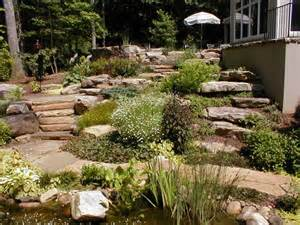 Small Sloped Backyard Ideas Triyae Landscaping A Small Sloped Backyard Various Design Inspiration For Backyard