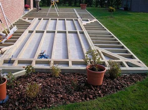 Faire Une Terrasse En Béton 3786 by Nivrem Pose Terrasse Bois Jardin Diverses Id 233 Es De