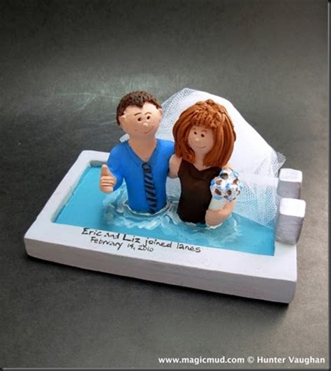 custom wedding cake toppers: Hot Tub Wedding Cake Topper