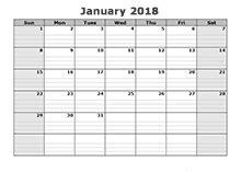 Calendar Labs 2018 2018 Blank Calendar Templates Free Printable