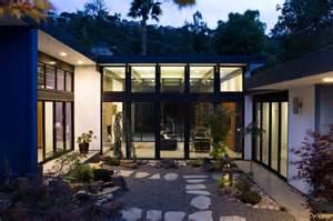 Container Homes Plans hillside eichler inspired residence in california quot atrium