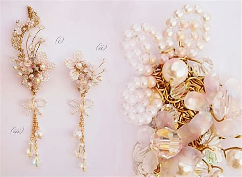 Earring Chandelier Fleur Antoinette Adaptable Bridal Ear Climber Chandelier Earrings