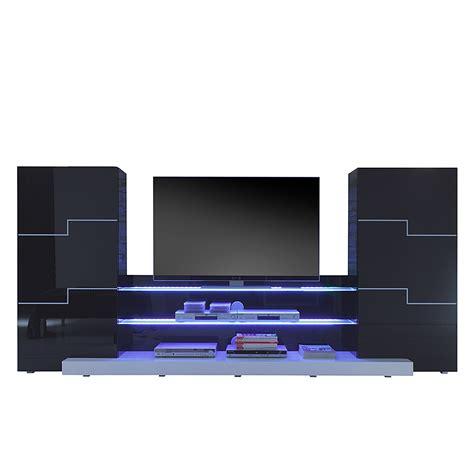 wohnzimmer schrankwand schwarz wohnwand schwarz wei 223 hochglanz schrankwand tv lowboard