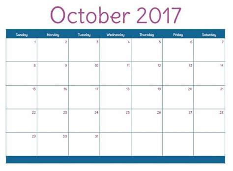 printable agenda october 2017 free 2017 printable calendar for moms working mom blog